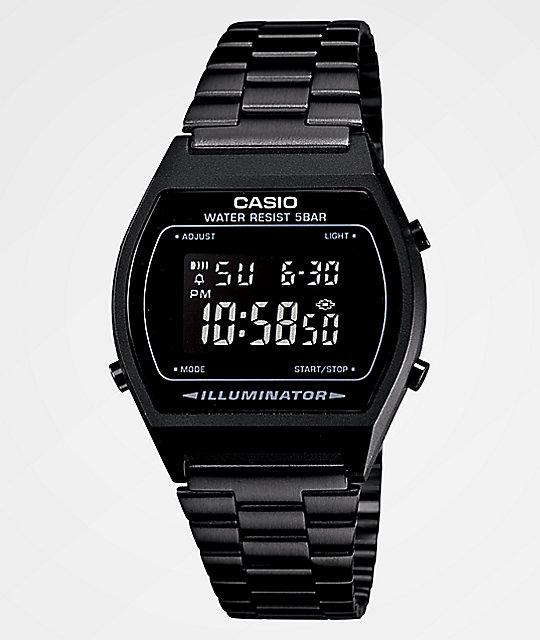 1bb9a341e Casio Vintage All Black Digital Watch | Zumiez