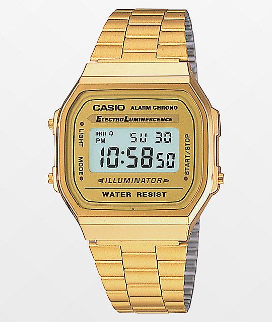 e58f4c101 Casio Vintage All Gold Digital Watch   Zumiez