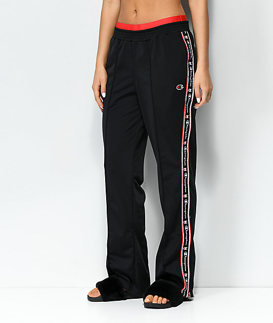 e73e7781a23d Champion Black & Red Taping Track Pants | Zumiez