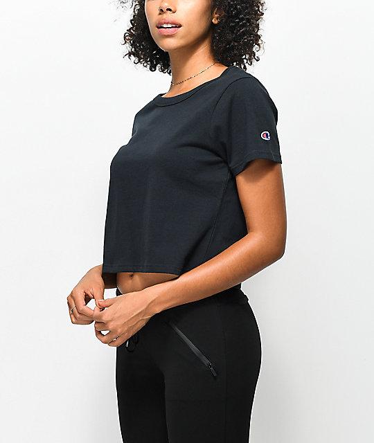 6de8a46c447 Champion Black Crop T-Shirt   Zumiez