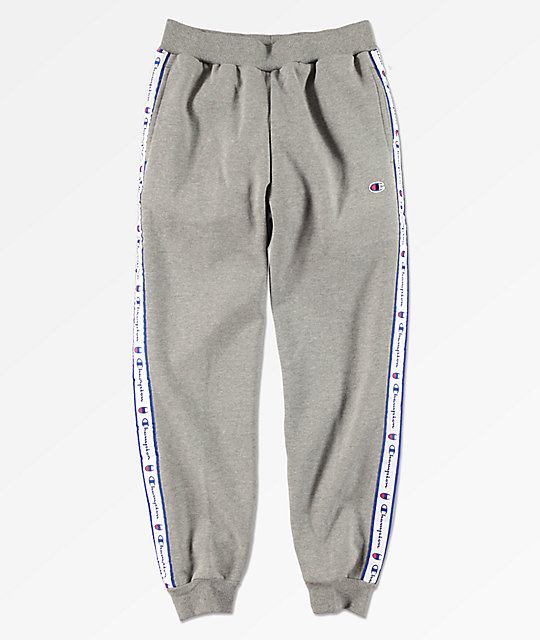 4e0dc2c2 Champion Boys Taped Grey Jogger Sweatpants | Zumiez