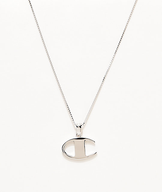 e7ed748400065 Champion C Silver Pendant Women's Necklace | Zumiez