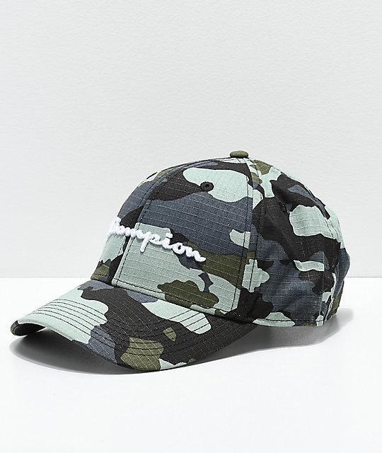 bfb4d38f5eb Champion Attribute Blue Gym Cinch Bag. Now  26.99 29.95. Champion Classic  Twill Camo Logo Script Strapback Hat