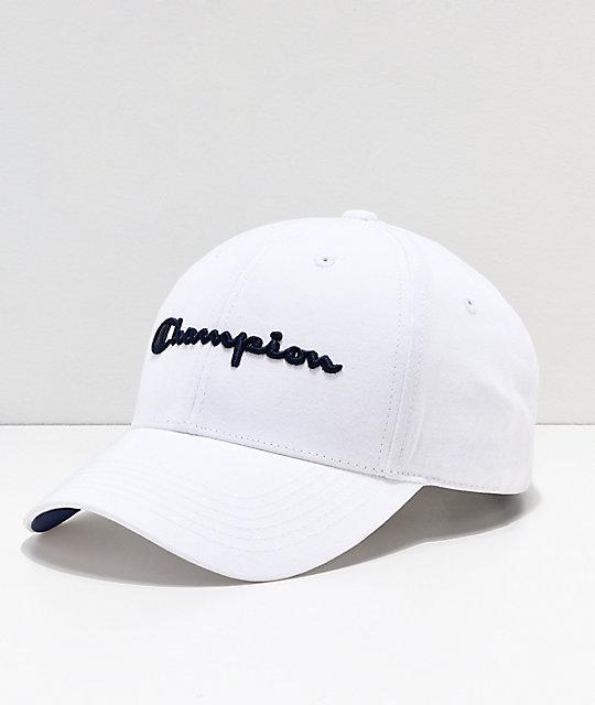 6f63f04ef3b3a7 Champion Classic Twill White Strapback Hat   Zumiez