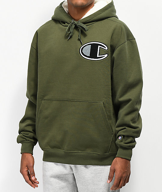 f493a0d7f Champion Fleece Lined Green Hoodie | Zumiez