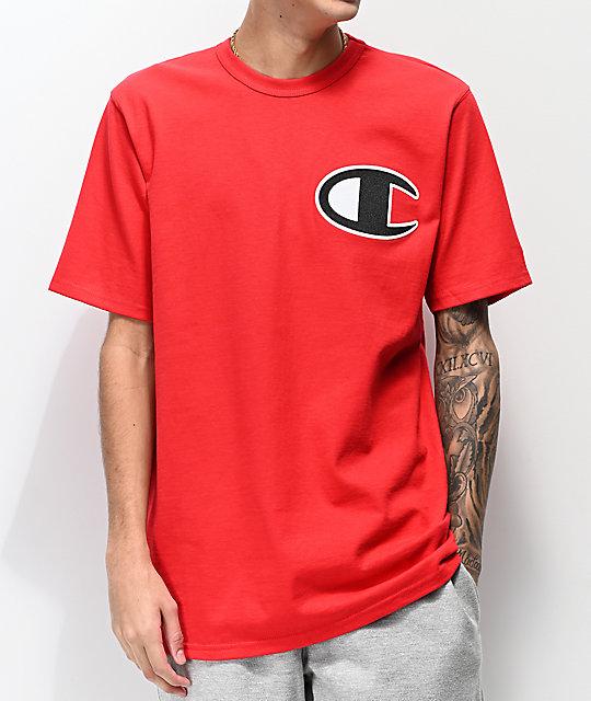 7fa3248c1059 Champion Heritage Big C Red T-Shirt | Zumiez
