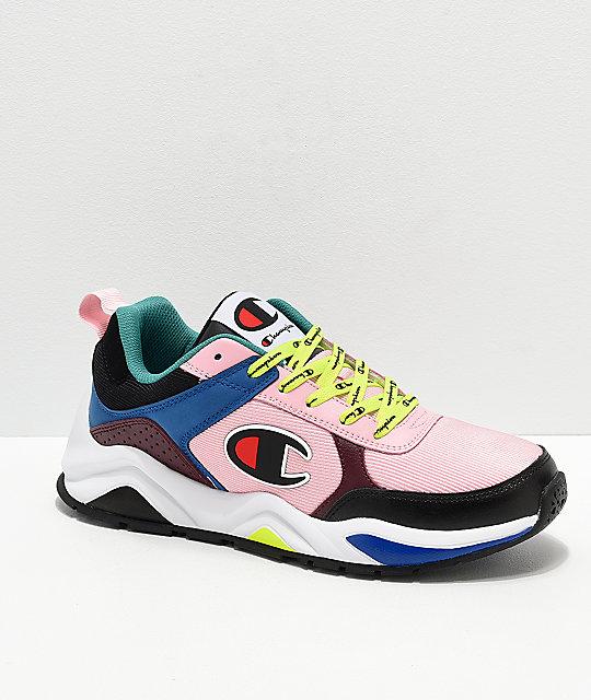 énorme réduction eec7d ced49 Champion Men's 93 Eighteen Big C Pink & Multi-Colorblock Shoes