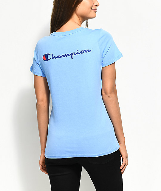 ee44e941081b Champion Patriotic Light Blue T-Shirt | Zumiez