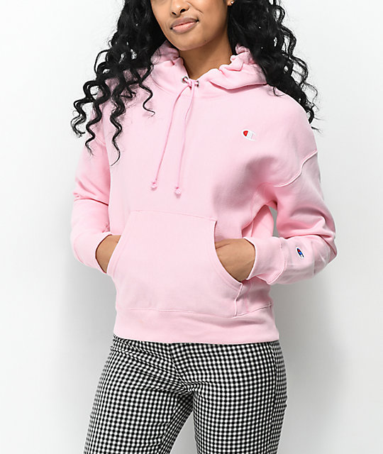 best website 8af72 0dc00 Champion Reverse Weave Candy Pink Hoodie   Zumiez