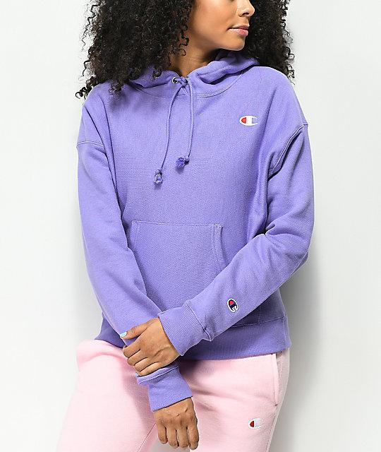 Champion Reverse Weave Iris Purple Hoodie  71e63f15708a