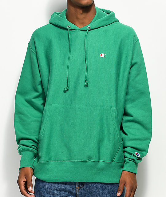 92077ae9 Champion Reverse Weave Kelly Green Hoodie | Zumiez
