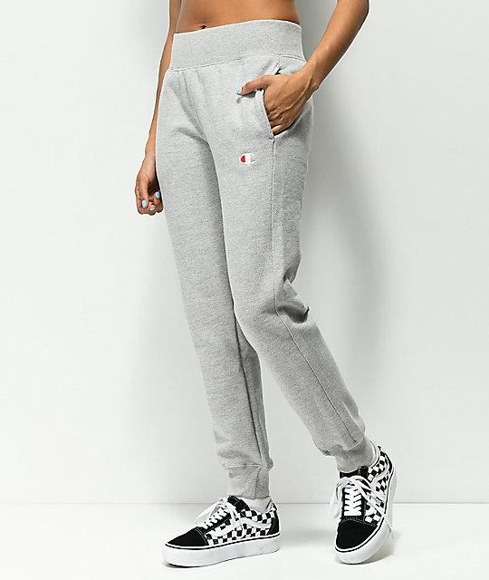 88a88647 Champion Reverse Weave Oxford Grey Jogger Sweatpants   Zumiez