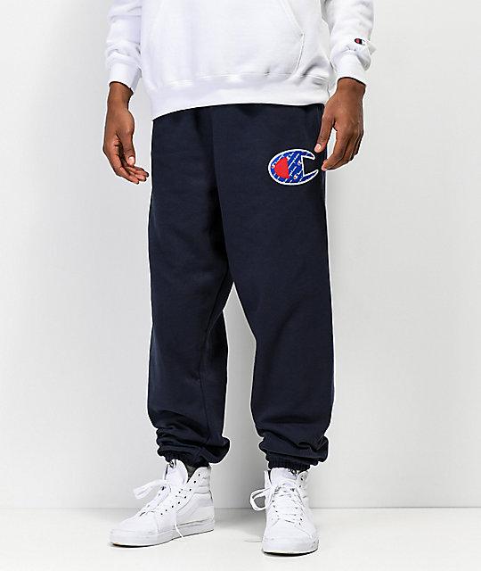 7637175eb1bcf0 Champion Reverse Weave Sublimated C Logo Navy Jogger Pants | Zumiez
