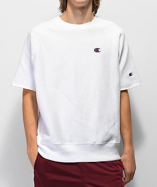 6128aa717161 Champion Reverse Weave White Crew Neck T-Shirt | Zumiez