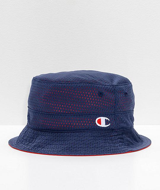 369f0e76 Champion Reversible Red & Navy Bucket Hat | Zumiez