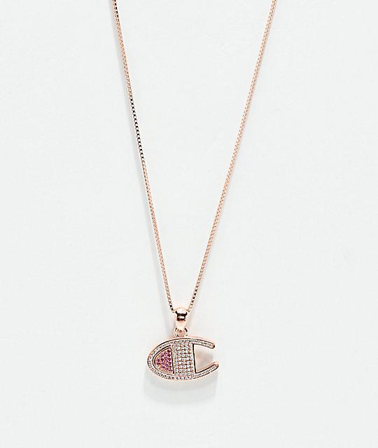 810082d95a9cb Champion Rose Gold Heritage Pendant Women's Necklace | Zumiez