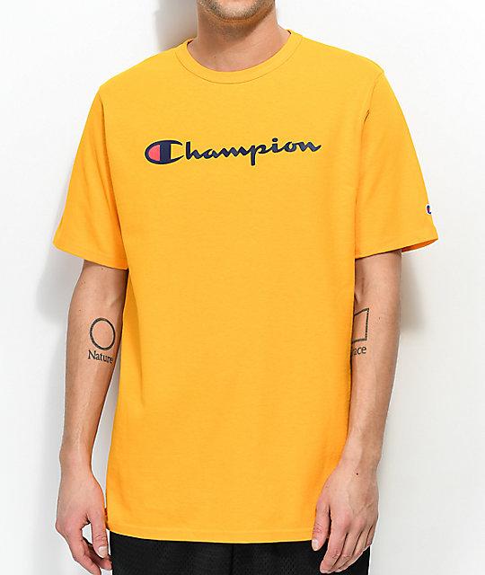 new arrival 67f7c 92f2f Champion Script Gold T-Shirt   Zumiez