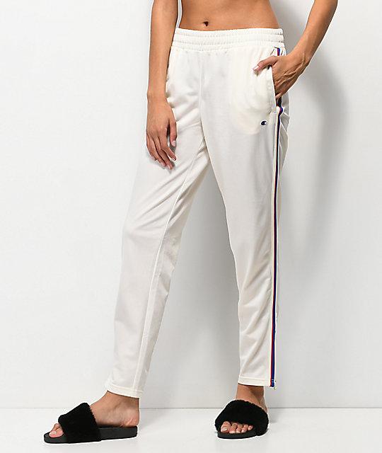 f5843e5c Champion White & Striped Track Pants | Zumiez