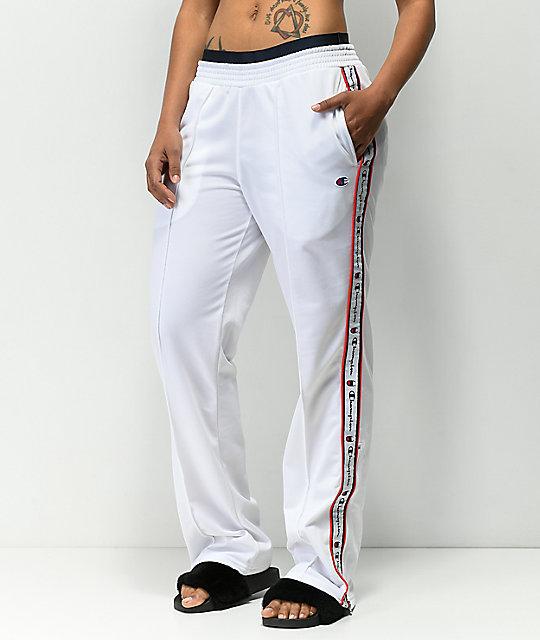 be7db122 Champion White Track Pants | Zumiez
