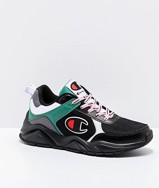 timeless design 6dff9 5afa2 Champion Women s 93 Eighteen Big C Black, Grey, Green   White Shoes   Zumiez