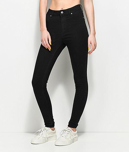 ff3b59c3cbd4 Cheap Monday High Spray Black Skinny Jeans | Zumiez