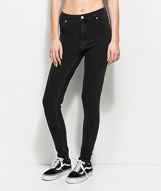 37e1323e61fb Cheap Monday High Spray Grey Skinny Jeans | Zumiez