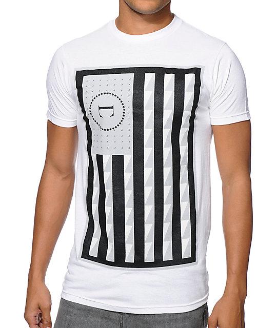 Civil Rebel Flag White T-Shirt