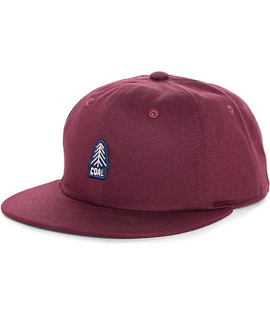 1399ea707d5889 Coal The Junior Burgundy Snapback Hat | Zumiez