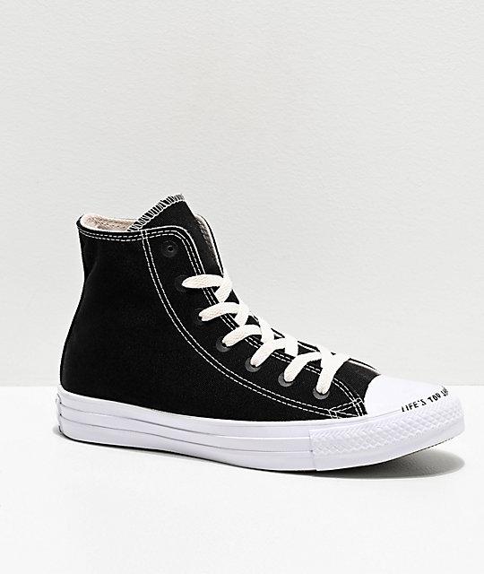 Negros Zapatos Skate Y De Ctas Blancos Converse Hi Renew dCshtQrx