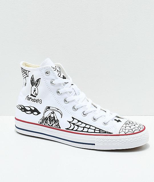 Pablo Blanco Converse Sean Ctas Pro Hi Zapatos Skate En N0n8wOPkXZ