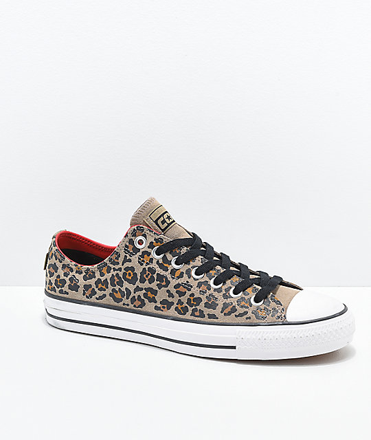 92e204907f9b Converse CTAS Pro Leopard Print Skate Shoes | Zumiez