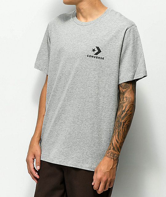Converse Chevron Heather Star Grey Shirt T WE9IeHD2bY