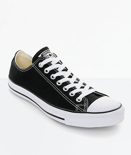 2e08c7fceff7c7 Converse Chuck Taylor All Star Black   White Shoes
