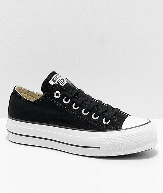 443b5401c2 Converse Chuck Taylor All Star Lift Black & White Shoes | Zumiez
