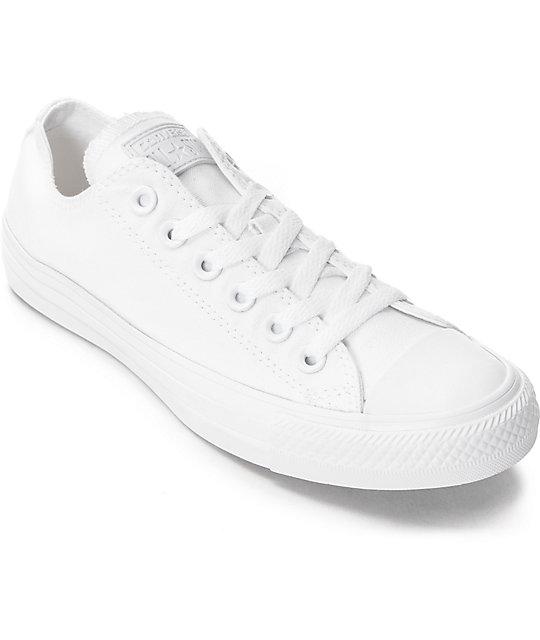 e33c83c378f Converse Chuck Taylor All Star White Monochrome Shoes   Zumiez