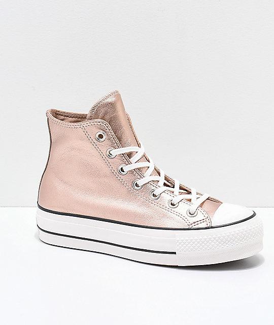 2f7584ea2cc Converse Chuck Taylor All Star zapatos en beige metálico de plataforma ...