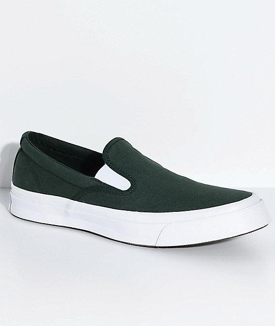 8ecb5895b6fd Converse Deck Star Aaron Shadow Fir & White Slip-On Skate Shoes   Zumiez