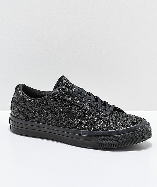 27be2706eee4 Converse One Star zapatos skate de brillo negro ...