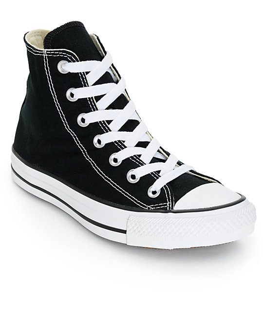014f30381915 Converse Womens Chuck Taylor All Star Black High Top Shoes
