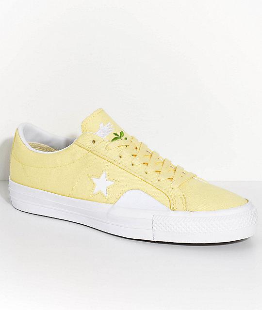 UK Converse Cons X Chocolate One Star Pro Ox YellowWhite