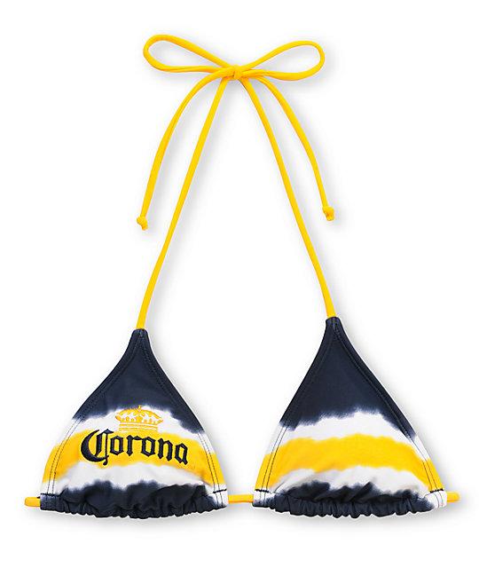 7f67fab7d Corona Swim Tie Dye Triangle Bikini Top | Zumiez