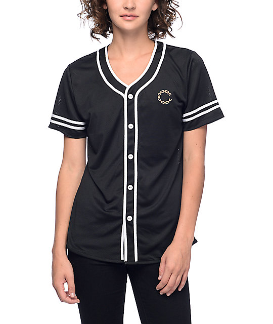 wholesale dealer a617d 63c3d Crooks & Castles Black & Gold Baseball Jersey