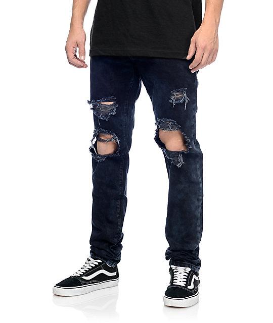 76b187db1c3b13 Crysp Denim Sanders Black Ripped Jeans | Zumiez