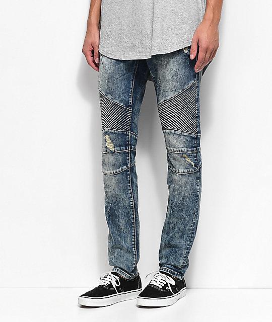 960e1680f02b Crysp Denim Skywalker Biker Medium Blue Jeans | Zumiez