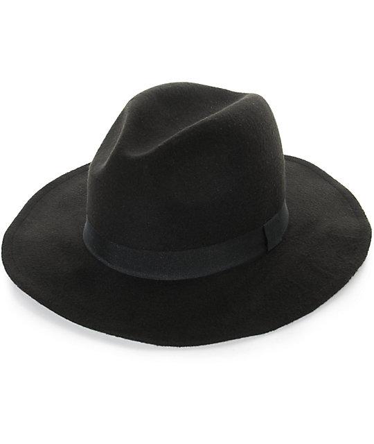 D Y Black Felt Panama Hat  f0fc0a2e5a6