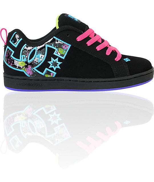 girls-black-skate-shoes