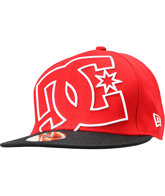 4c41a68e DC Coverage Red New Era 59Fifty Fitted Hat   Zumiez