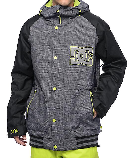 1c45d55e59e1 DC DCLA Black 10K Snowboard Jacket | Zumiez