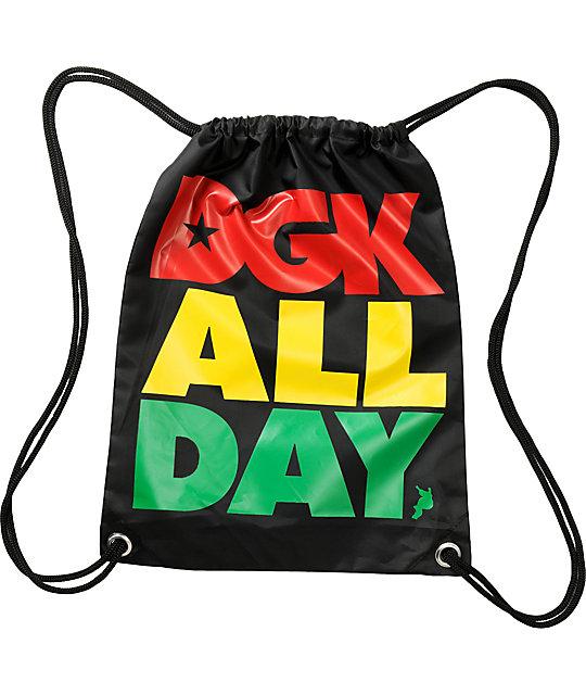 Dgk All Day Rasta Drawstring Bag Zumiez