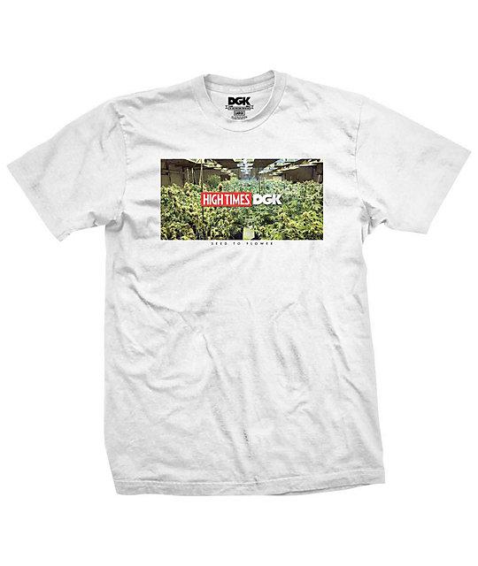 DGK x High Times Grow Room White T-Shirt